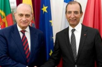Le ministre de l'intérieur espagnol, Jorge Fernández Díaz et le ministre de l'intérieur marocain Mohammed Hassad