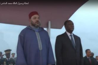 Les images de l'arrivée du Roi Mohammed VI à Abidjan (VIDEO)