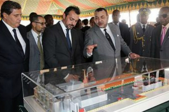 Conakry: Le Roi visite le chantier de construction du complexe de formation professionnelle