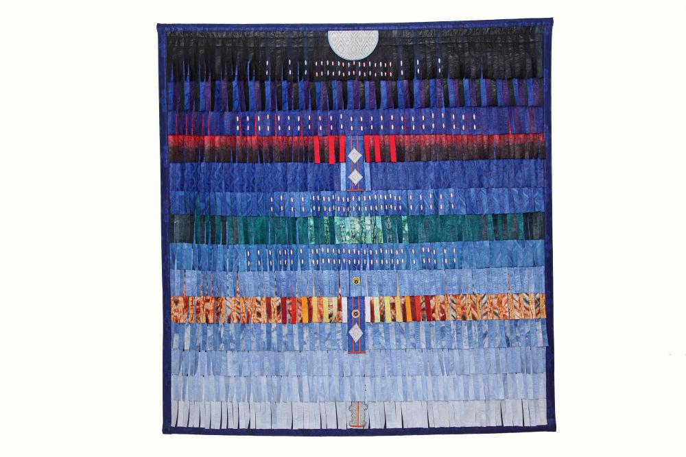 AbdoulayeKonate- Composition en bleu pour FES- 2
