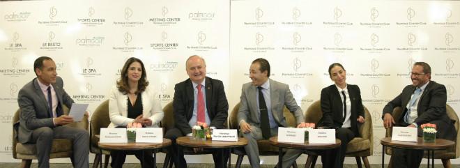 De gauche à droite Mohamed Addine - Soumia Chraïbi Patrick Lebufnoir Ali Ouaziz Ghita Naji Imad Boufarik