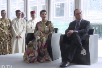 Livre Paris: Lalla Meryem et François Hollande inaugurent le pavillon du Maroc