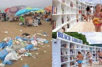 beach-librairy