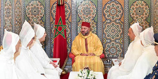 Le Roi reçoit la délégation officielle qui va accomplir le pèlerinage