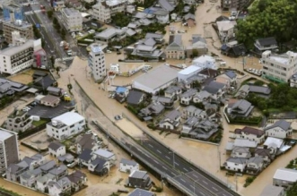 Le Japon secoué par de graves inondations (VIDEO)