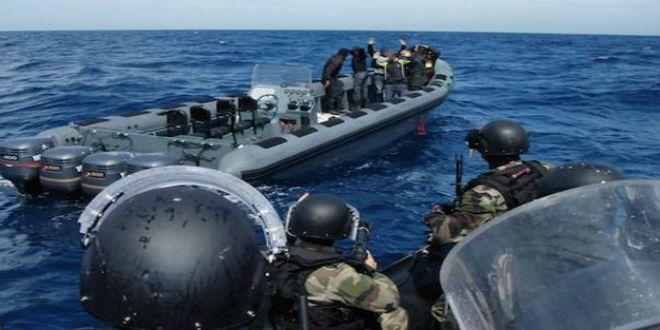 Intervention de la Marine royale au large de Tan-Tan