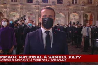 France: hommage national à Samuel Paty (VIDEO)